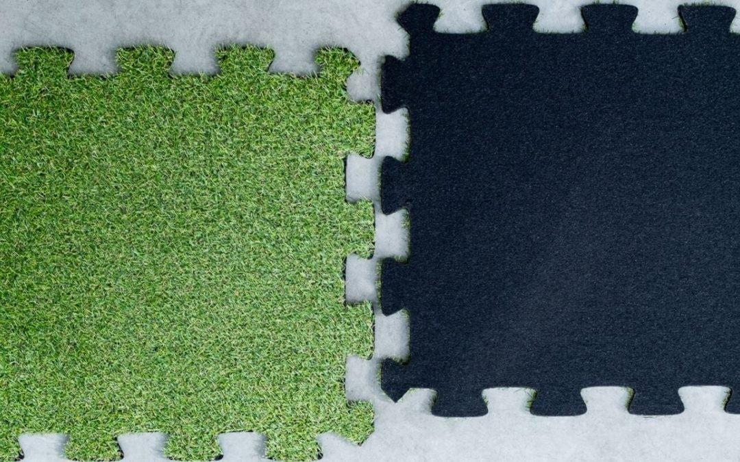 Sztuczna trawa puzzle