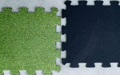 Sztuczna trawa puzzle – kreatywne zagospodarowanie przestrzeni
